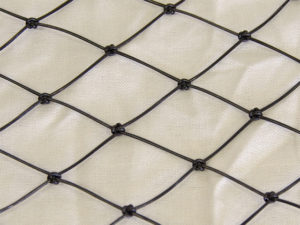 Knotted net cloth enlarged